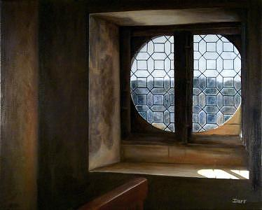 Window View Painting - View Of Mme. Fouquet by Darr Sandberg