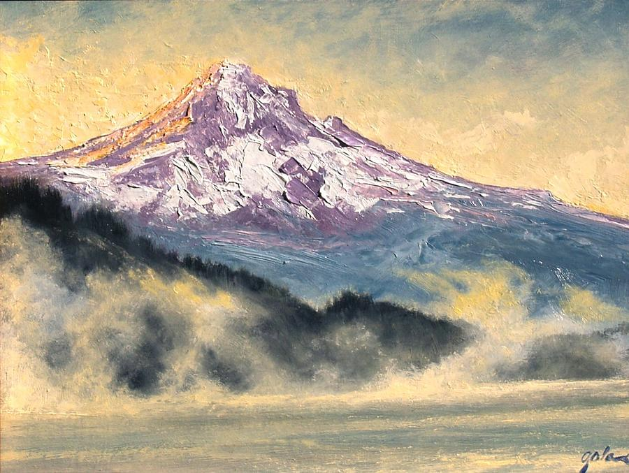 Lanscape Painting - View Of Mt Hood by Jim Gola