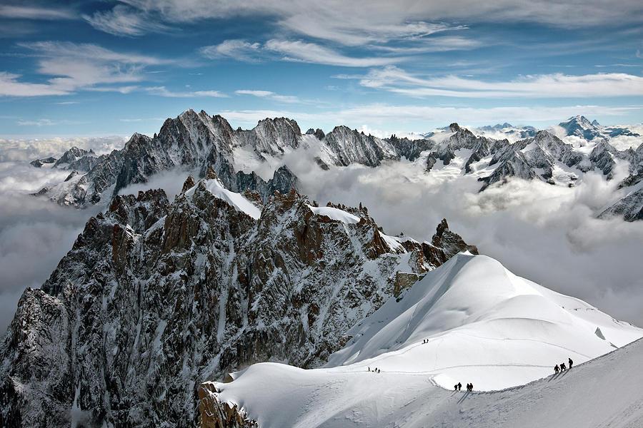 Horizontal Photograph - View Of Overlooking Alps by Ellen van Bodegom