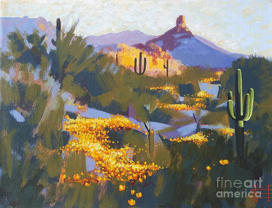 View of Pinnacle Peak in Spring by Michael Stoyanov
