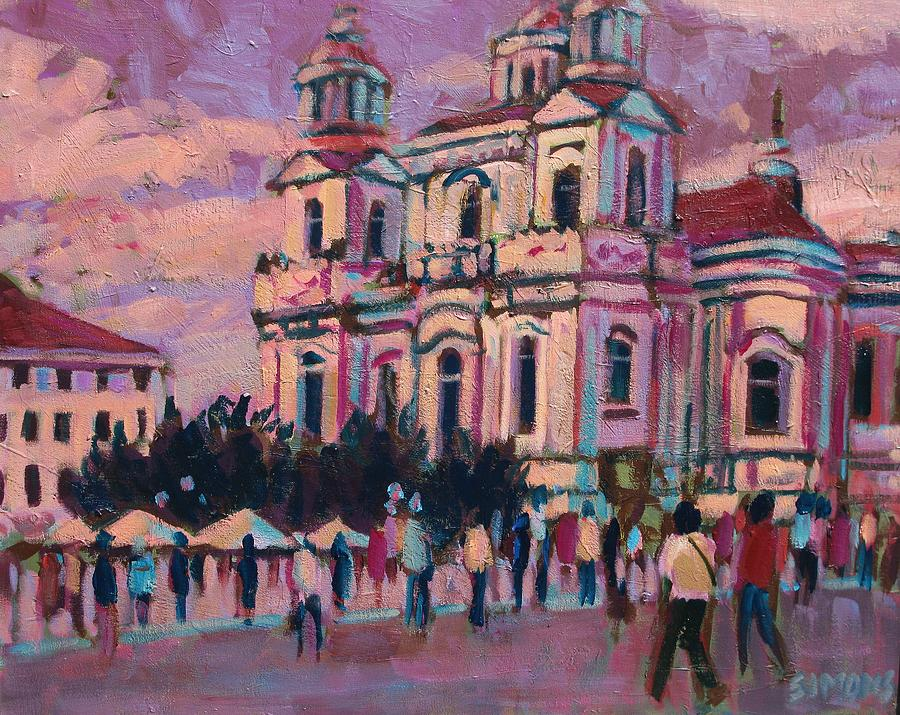 Paintings Painting - View Of Prague by Brian Simons