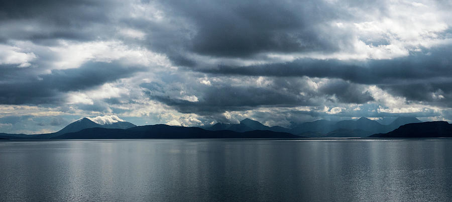 View Of Raasay, Rona And Skye From Applecross Photograph
