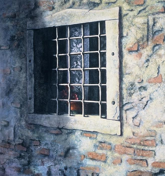 Window Painting - View Of Ravenna by Leela Logan