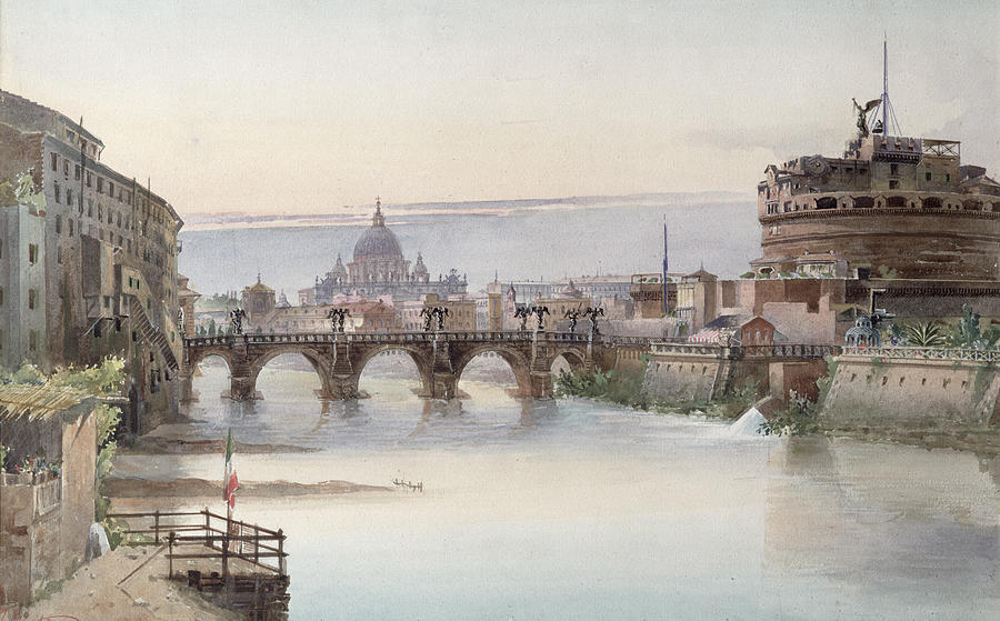 View Painting - View Of Rome by I Martin