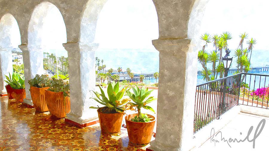Casa Romantica Digital Art - View Of San Clemente Pier by Roger Merrill