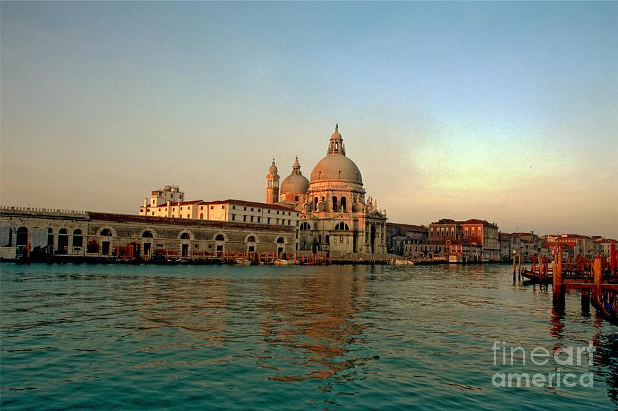 Venice Photograph - View Of Santa Maria Della Salute On Grand Canal In Venice by Michael Henderson