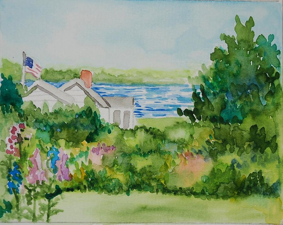 Penobscot Painting - View Of The Bay by Anita Banks Ambrister