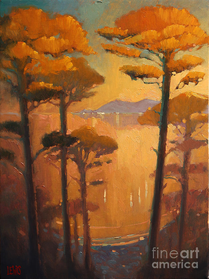 View Painting - View Of The Bay by Robert Lewis