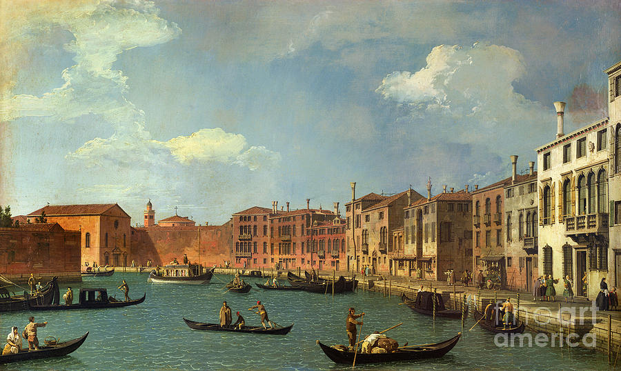 Venice Painting - View Of The Canal Of Santa Chiara by Canaletto