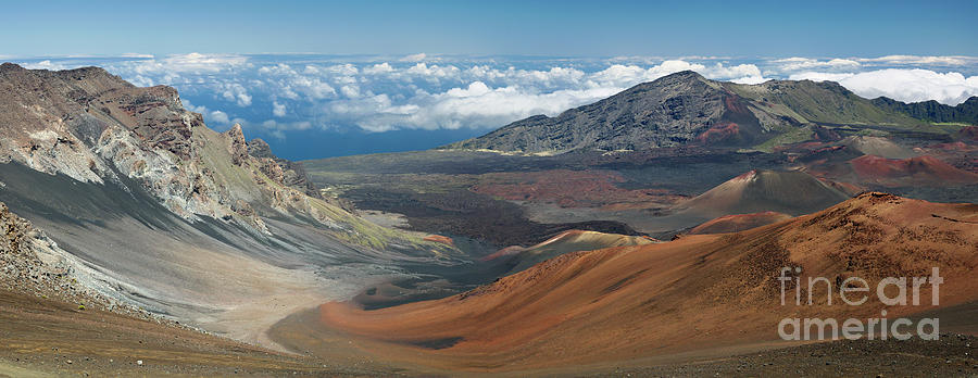 View of the Crater in Haleakala National Park by Frank Wicker