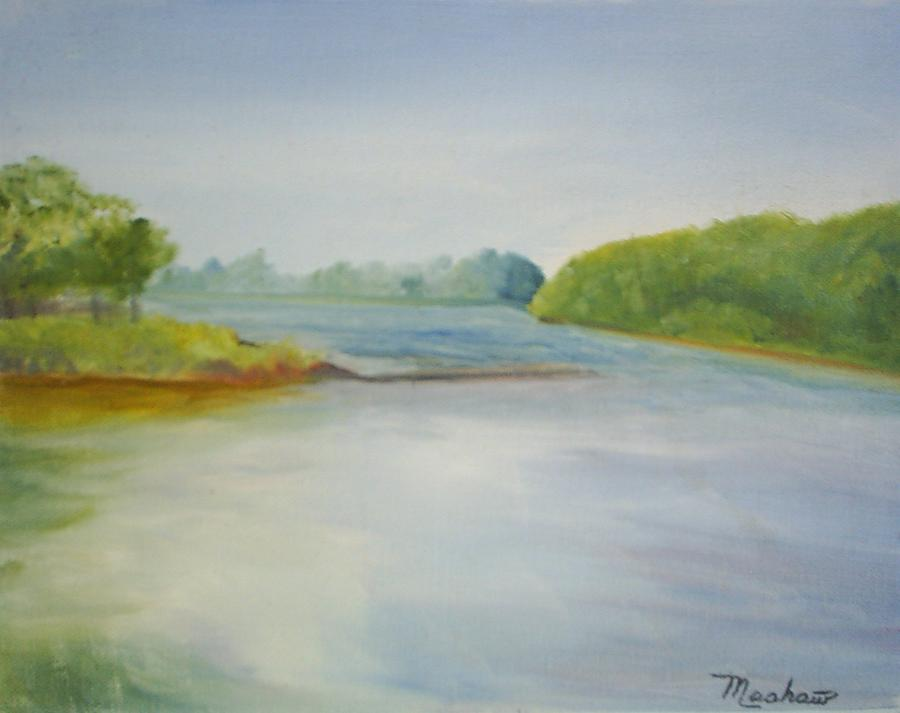 Delaware River Painting - View of the Delaware by Sheila Mashaw