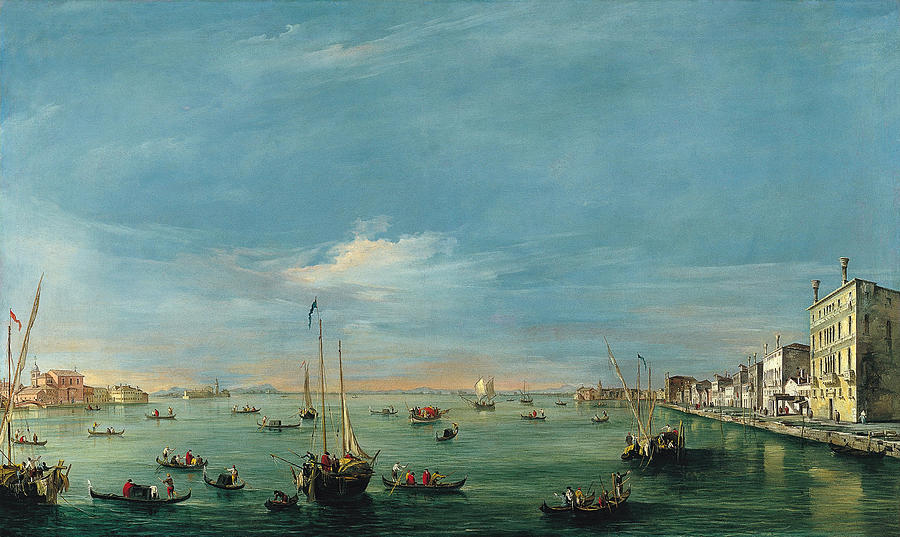 Francesco Guardi Painting - View of the Giudecca Canal and the Zatter by Francesco Guardi