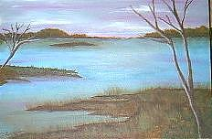 View Of The Lake Painting by Doris Burnham