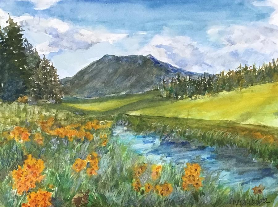 Arizona Painting - View of the Peak by Cheryl Wallace