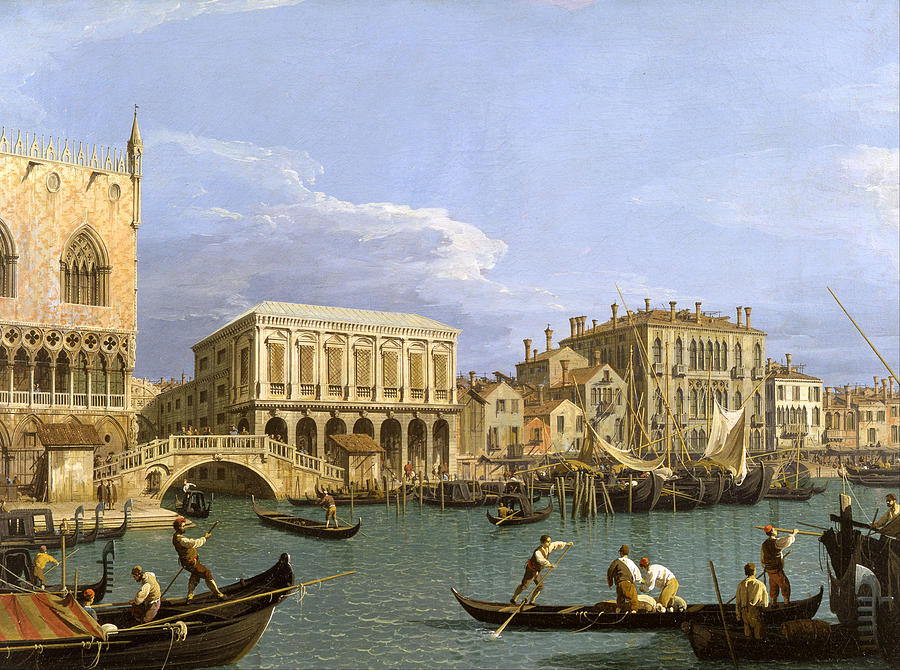 Canaletto Painting - View Of The Riva Degli Schiavoni. Venice by Canaletto