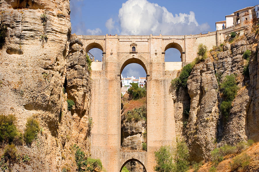 Ronda Photograph - View Of The Tajo De Ronda And The Puente Nuevo Bridge From Across The Valley by Mal Bray