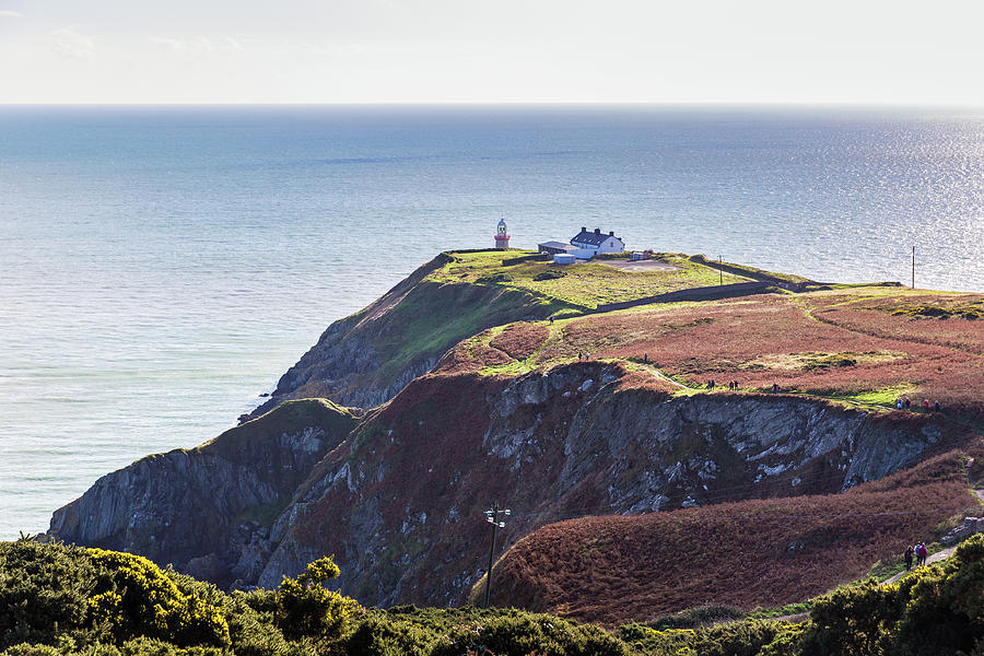 View of the trails on Howth Cliffs and Howth Head in Ireland by Semmick Photo