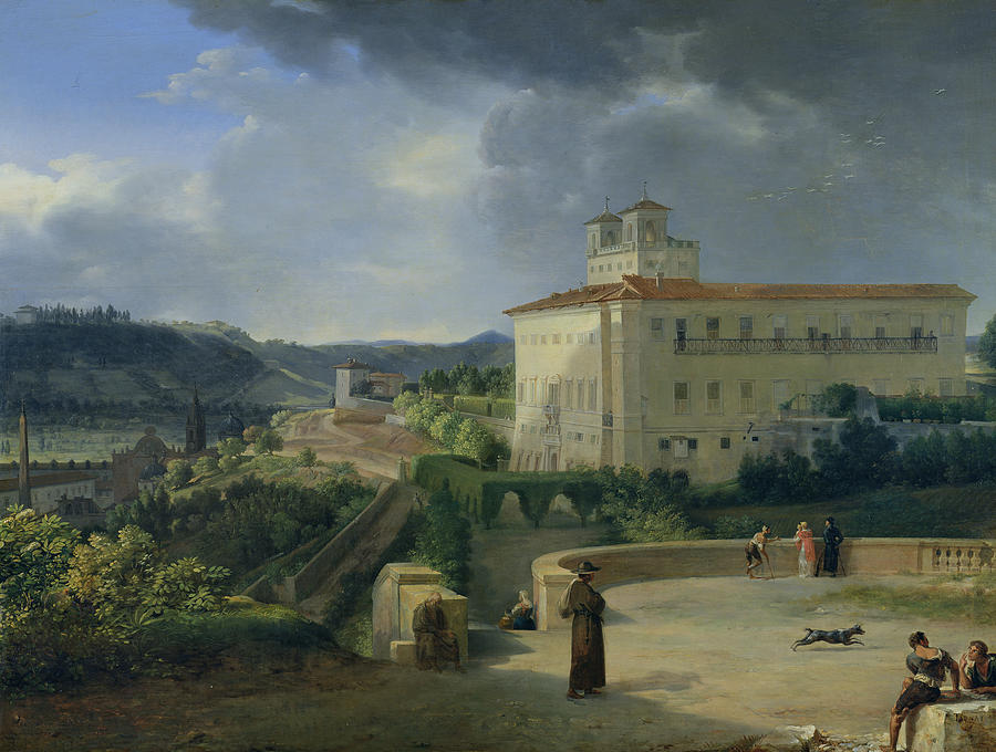 View Painting - View Of The Villa Medici In Rome by Nicolas Antoine Taunay