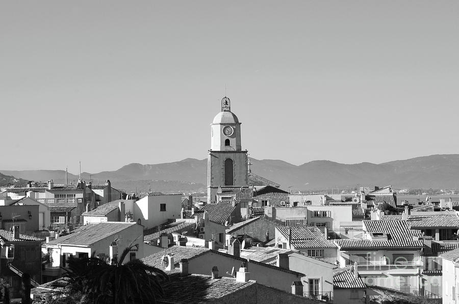 Saint-tropez Photograph - View Of The Village And The Clocher Of Saint-tropez by Tom Vandenhende