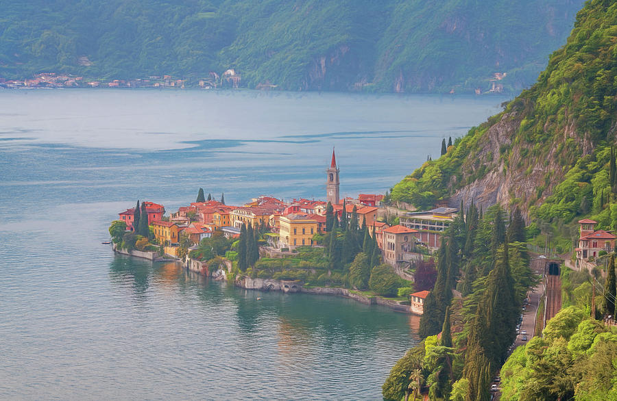View Of Varenna Lake Como Italy Painterly Photograph
