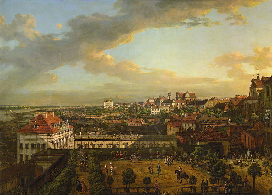 View Of Warsaw From The Terrace Of The Royal Castle Painting by ...