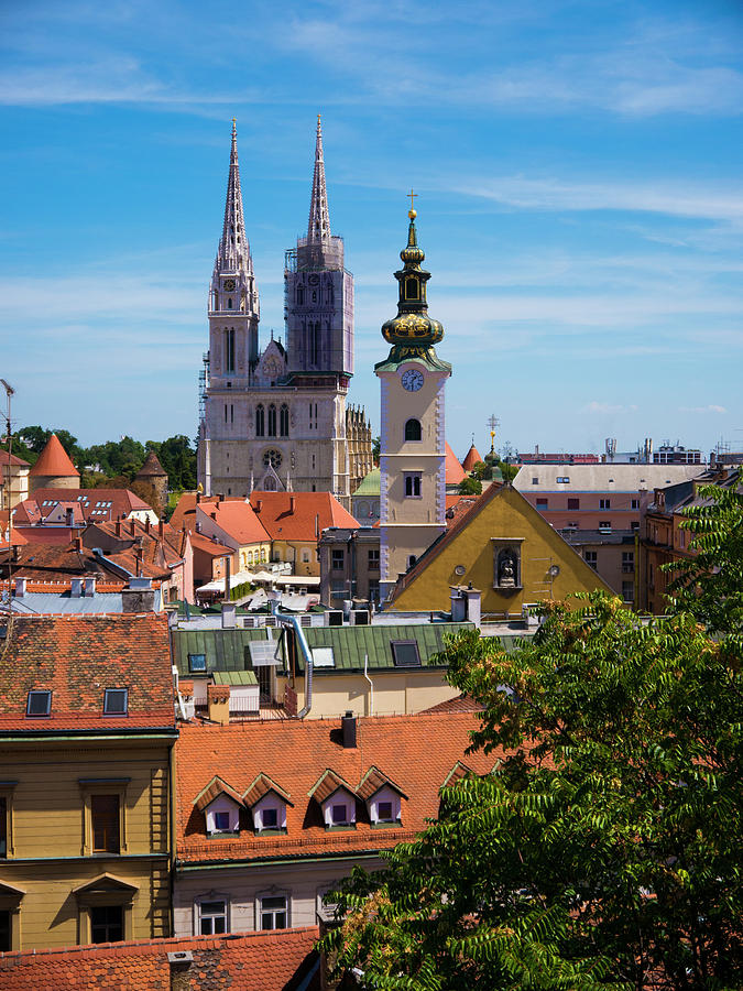 Zagreb Photograph - View Of Zagreb by Rae Tucker