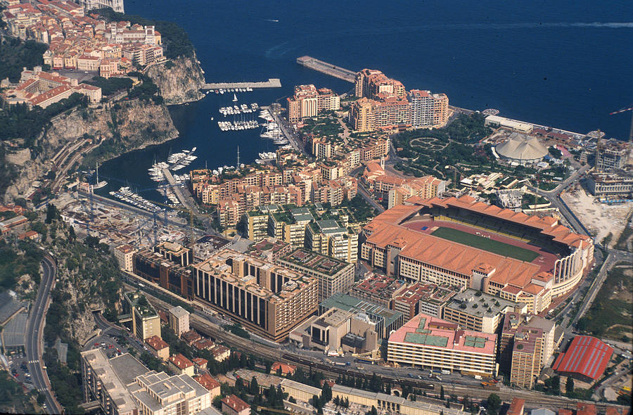 Casino Photograph - View On Monte Carlo On French Riviera by Carl Purcell
