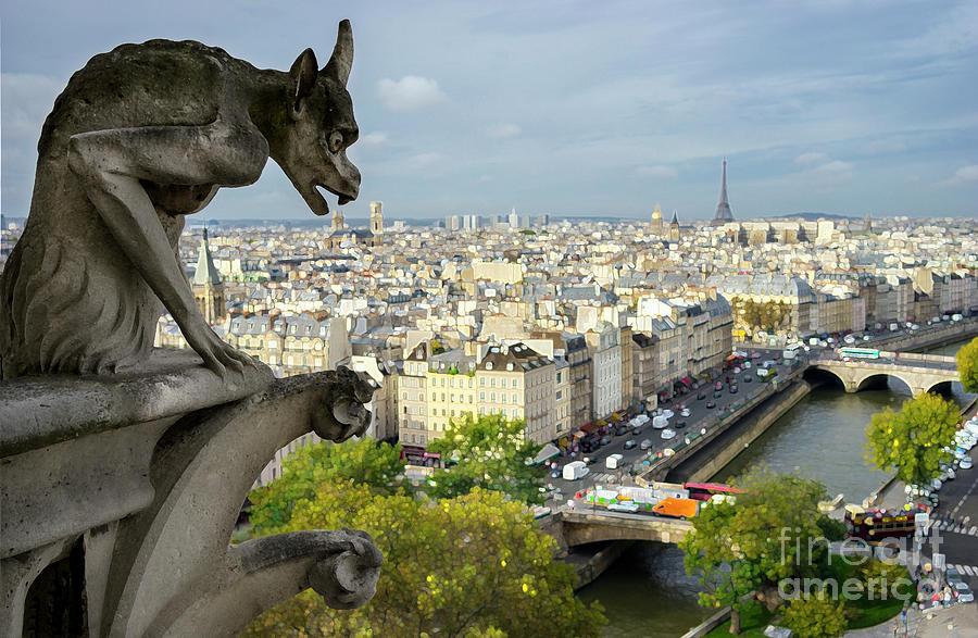 Catholic Photograph - View On Paris City by Vyacheslav Isaev