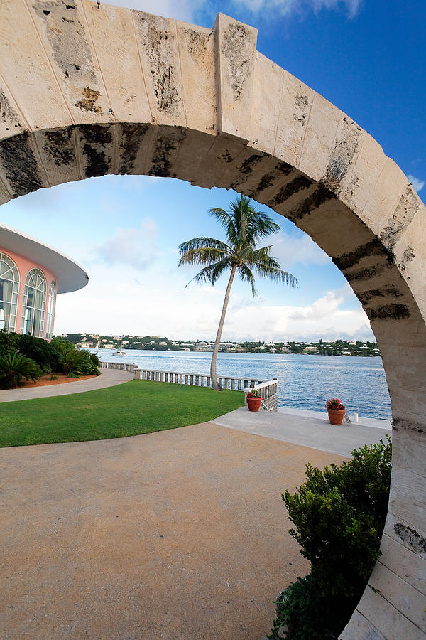 Arch Photograph - View Through A Moon Gate by George Oze