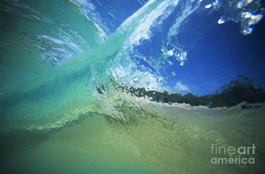 Abstract Photograph - View Through Wave by Vince Cavataio - Printscapes