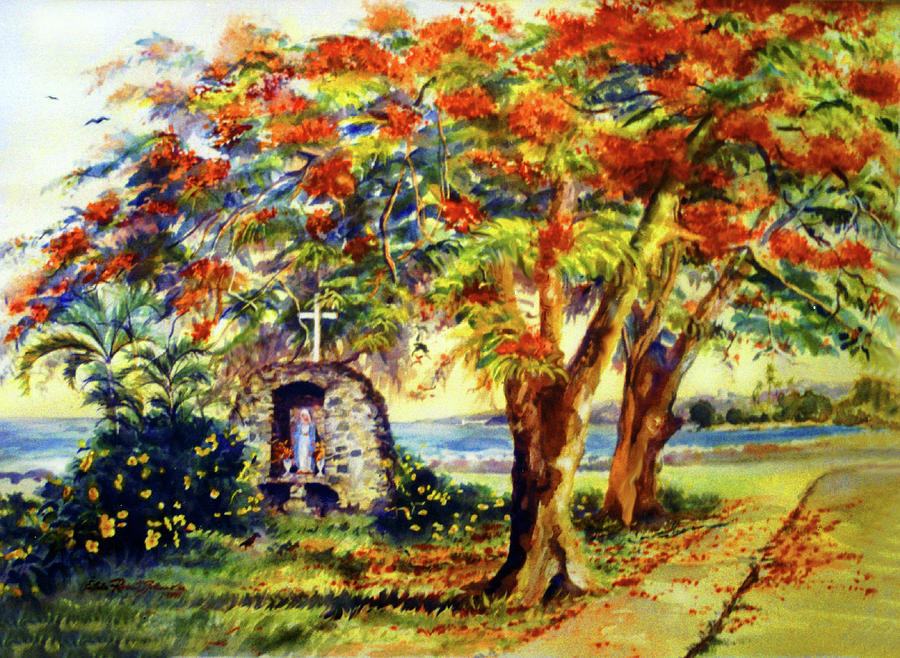 Watercolor Paintings Painting - View To Aguadilla Bay by Estela Robles