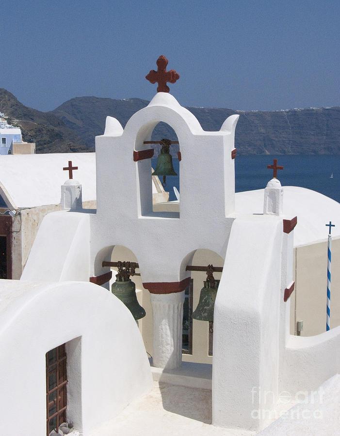 Santorini Photograph - View To The Sea by Sandra Bronstein