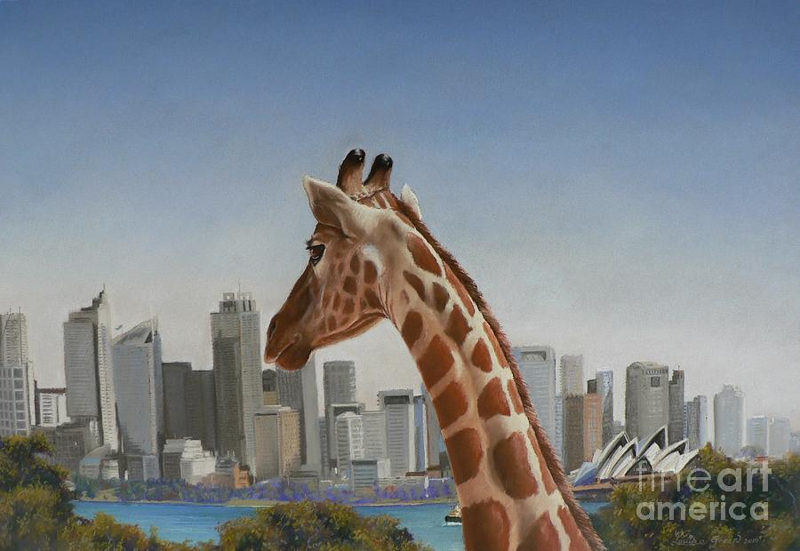 Giraffe Pastel - View Towards Sydney by Louise Green