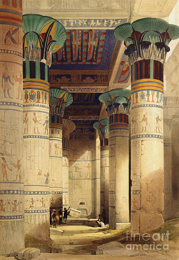View Painting - View Under The Grand Portico by David Roberts