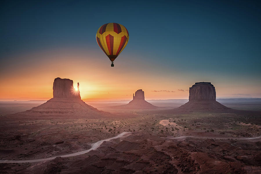 Monument Photograph - Viewing Sunrise At Monument Valley by William Freebilly photography