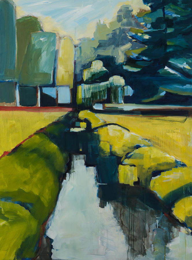 Contemporary Landscape Painting - Viewpoint by Michele Norris