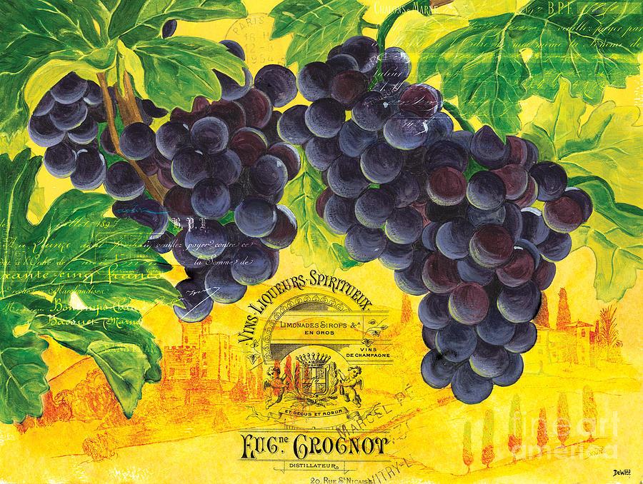 Grapes Painting - Vigne De Raisins by Debbie DeWitt