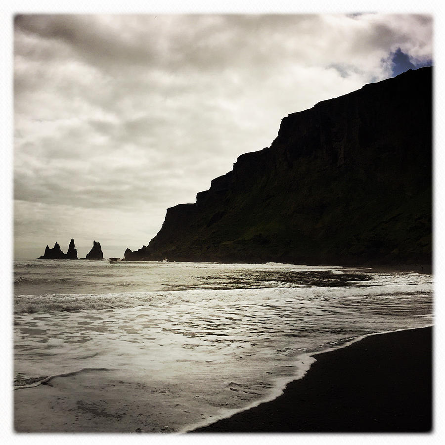 Vik Photograph - Vik beach Reynisdrangar Iceland by Matthias Hauser