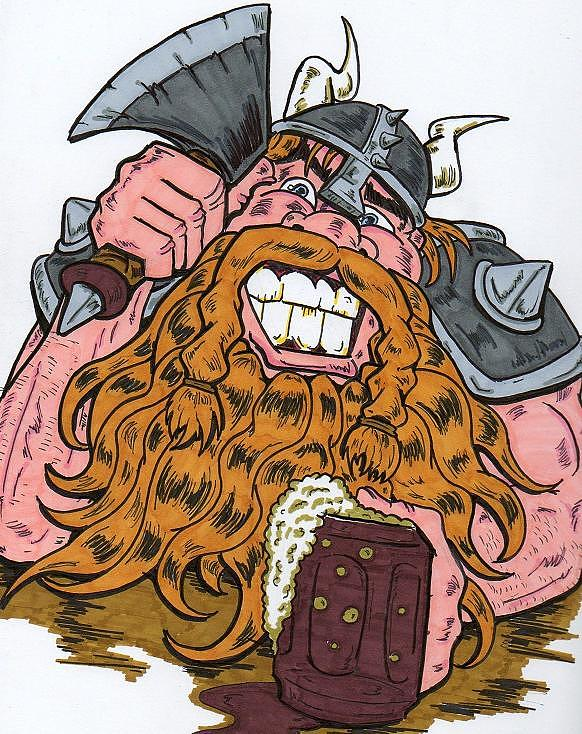 Viking Drawing - Viking by Anthony Snyder