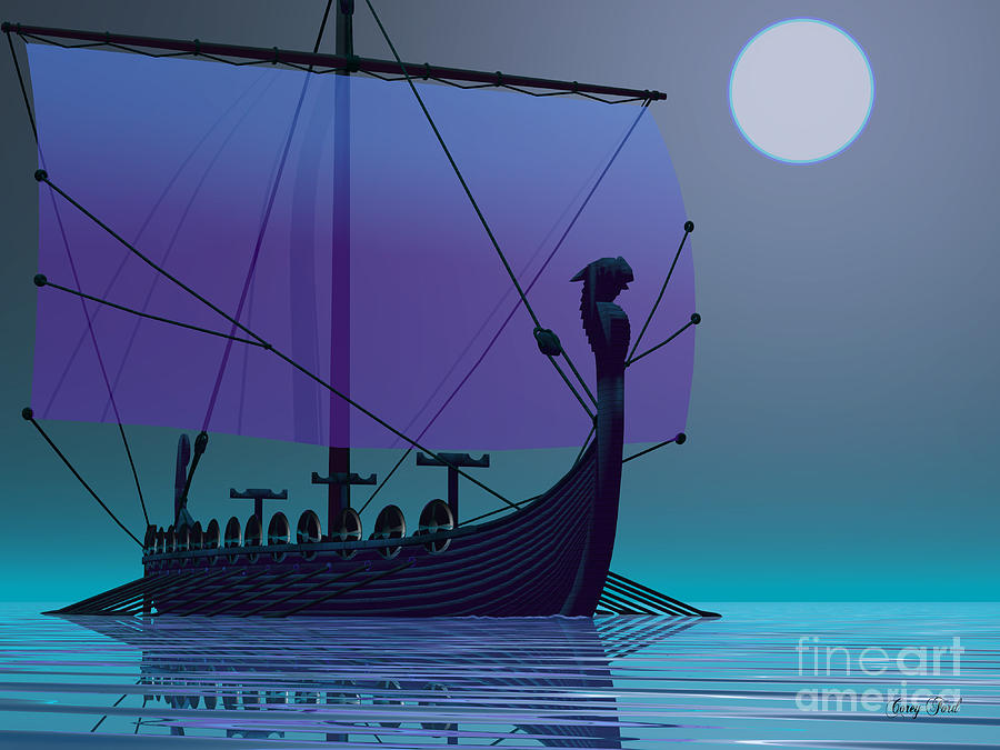 Ancient Painting - Viking Journey by Corey Ford