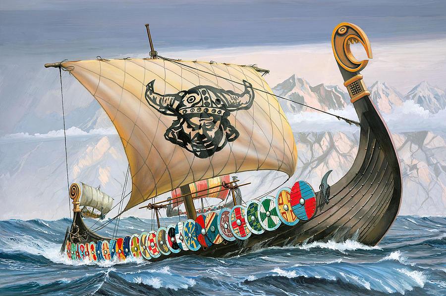 Viking Ship Digital Art - Viking Ship by Dorothy Binder