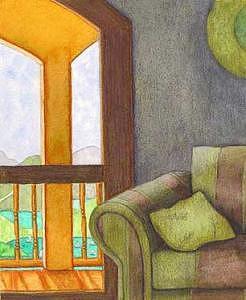 Villa Painting by Danielle Auriemma- Damico