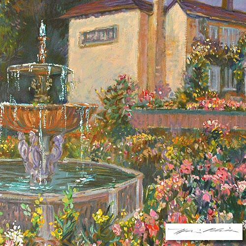 Water Painting - Villa Fontana by Plisson Henri