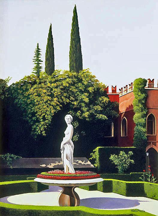 Verona Painting - Villa Giusti Gardens I by Eduardo De La Maria