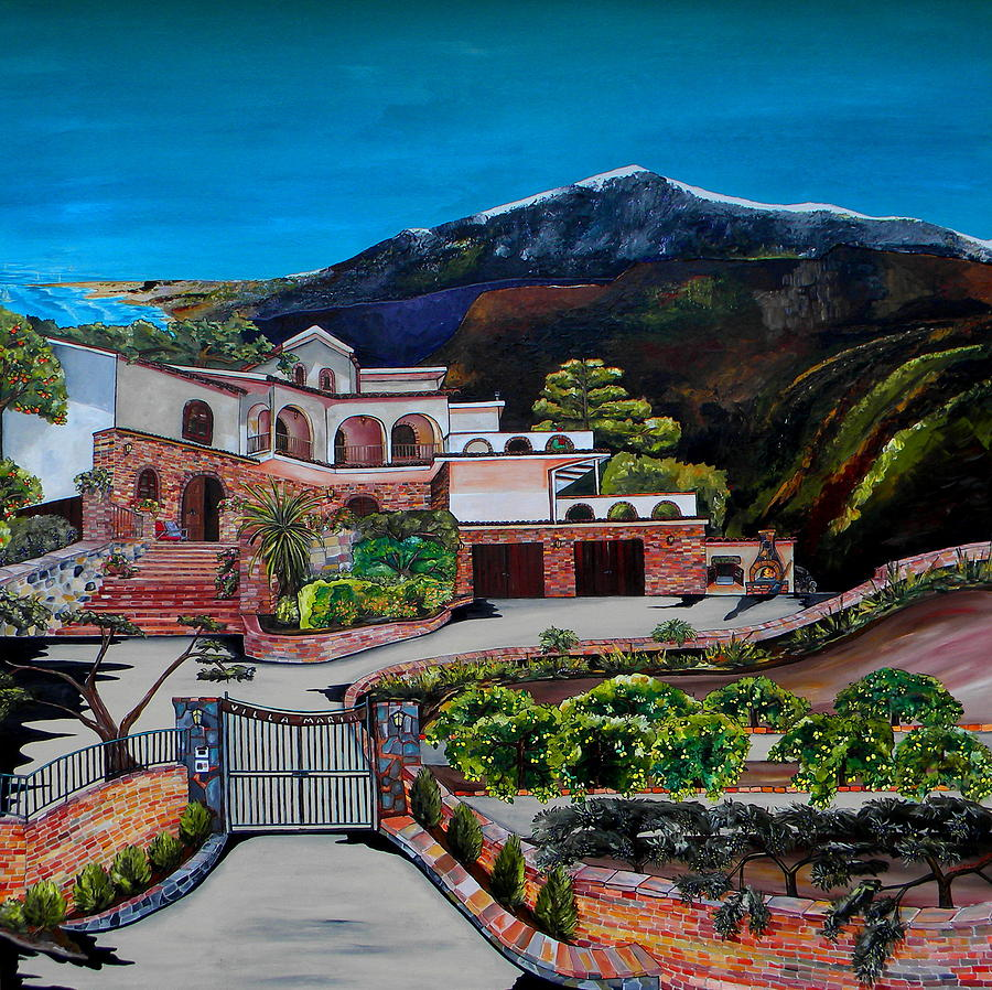 Italy Painting - Villa Maria by Patti Schermerhorn