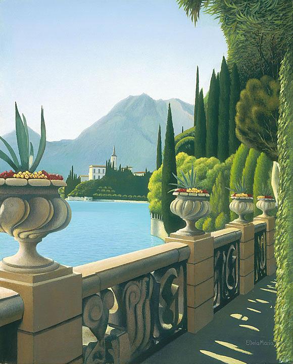 Gardens By Maria: Villa Monastero Gardens I Painting By Eduardo De La Maria