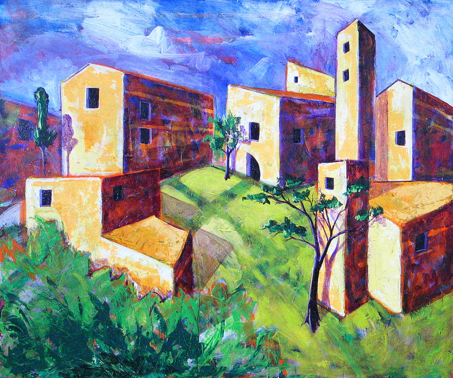 Landscape Painting - Villa by Rollin Kocsis