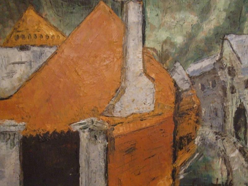 Landscape Painting - Villa Romana by Mauro Longordo