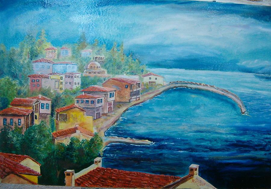 Village 1 Painting by Fahrettin  Oktay