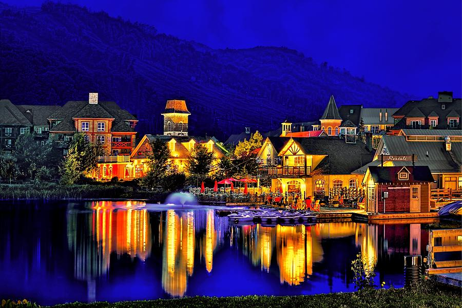 Architecture Photograph - Village at Blue Hour by Jeff S PhotoArt